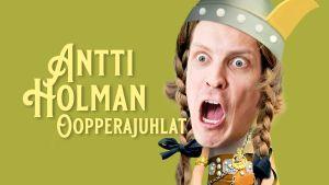 Antti Holman oopperajuhlat -podcastin kansikuva. Antti on muokattu esittämään Siegfridin hahmoa
