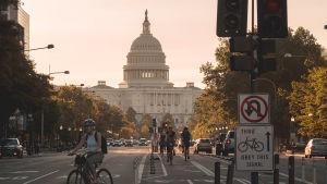 Kuva Washingtonin kadulta.