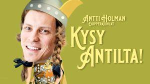 Antti Holman oopperajuhlat -podcastin logo. Kuvassa Antti Holma.