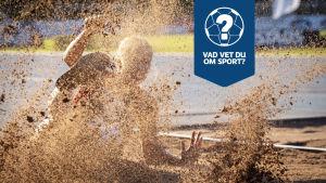 Längdhoppare landar i sandgropen.