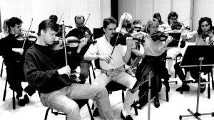 Tapiola Sinfonietta harjoittelee noin vuonna 1990.
