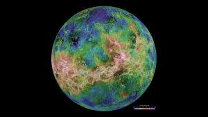 Venus ilman pilviä tutkakuvassa