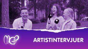Jontti med artister gör artistintervjuer