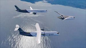 Airbusin kolme vetykäyttöistä konseptikonetta.