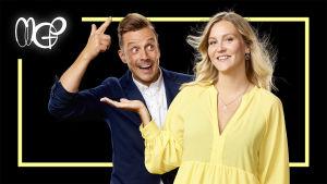 Programledarna i MGP 2020 Jontti och Märta