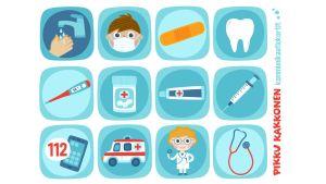 Pikku Kakkosen kommunikaatiokortti, terveydenhoito