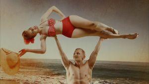Gymnasten Markku Vahtila och fotohgrafen Milla Vahtila