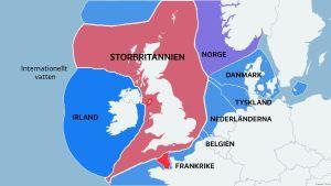 Karta över Storbritanniens stora vattenområden.