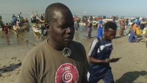 Abdoul Karim Sall, chef för en senegalesisk fiskeorganisation, säger att fisket är hotat utanför Senegals kust