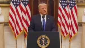 Trump håller avskedstal