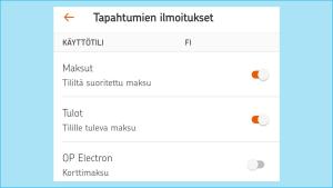 Kuvakaappauksia S-mobiili-sovelluksesta: kaikki käyttöluvat jätetty valitsematta, mutta sijainti sallittava, jos haluaa tietää lähellä olevat kaupat ym.