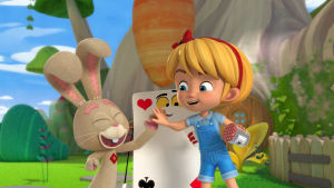 Animaatiohahmot Liisa ja Leo