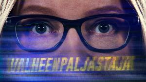 Toimittaja Johanna Vehkoo erkioislähikuva silmistä.