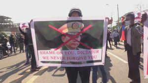 Demonstrant i Myanmar