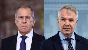 Två äldre män i kostym och grått hår inklippta bredvid varandra.