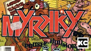 Myrkky-lehden kansia 1990-luvulta.
