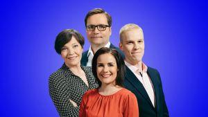 Ylen meterologit Anne Borgström, Kerttu Kotakorpi, Joonas Koskela ja Matti Huutonen.