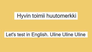 Kuvakaappaus Google Docsista: Esimerkkiteksteissä sanelu osaa komennot englanniksi (melko hyvin), ei suomeksi.
