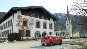 Rådhuset i tyska Bayrischzell