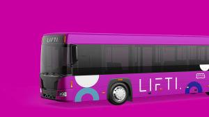 I framtiden ska bussarna i Vasa och Korsholm vara rosa.