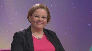 Avaruusfyysikko Minna Palmroth Puoli seitsemän -ohjelman vieraana.