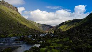 Eldgjá på Island, världens största vulkaniska kanjon.