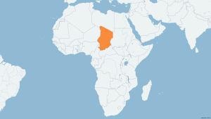 Tchad på karta