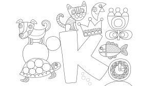 Jaakkoset värityskuva K-kirjain