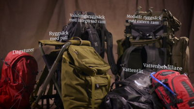 Olika ryggsäckar för olika ändamål