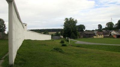 Muren står fortfrande kvar i Mödlareuth