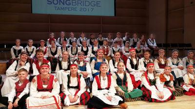 Ylen Vuoden nuorisokuoro 2016-2017 Vox Aurea Tampereen Sävelen Songbridge-tapahtumassa 2017.