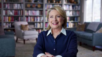 Hillary Clinton intervjuas för dokumentärserien.