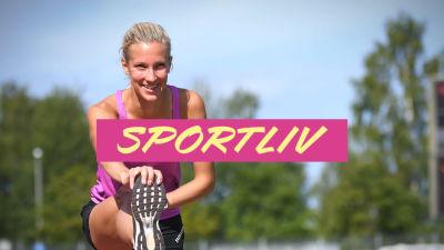Camilla Richardsson med Sportlivs logo.