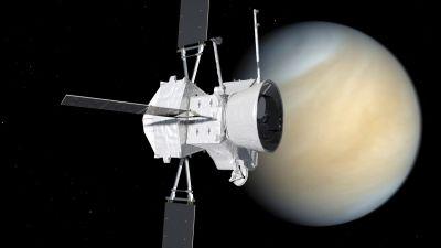 Piirros BepiColombosta lähellä Venusta