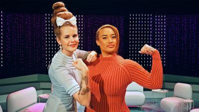 Ina Mikkola ja Endia Pattersson Tilipäivän studiossa