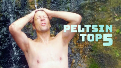 Mikko Peltsi Peltola pesulla vesipuotuksessa