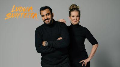 Muusikot Ali Saad ja Sanna Salmenkallio.
