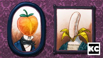 Persikka ja banaani