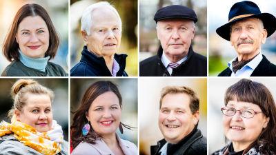 Turun pormestariehdokkaat: Minna Arve, Jarmo Laivoranta, Aki Lindén, Mikael Miikkola, Mirka Muukkonen, Elina Rantanen, Jethro Rostedt, Terhi Vörlund-Wallenius