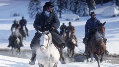Cowboys till häst.