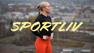 Bild på Stefanie Hagelstam med Sportlivs logo.