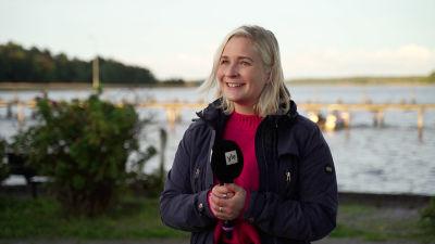Anita Westerholm vid Barckens udde.