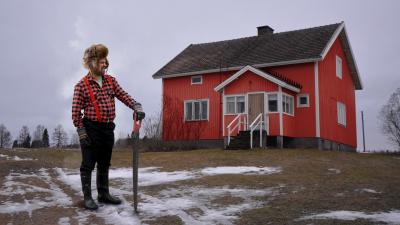 Olli Haapakangas ja rintamamiestalo
