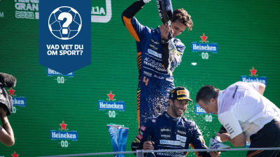 Lando Norris och Daniel Ricciardo firar.