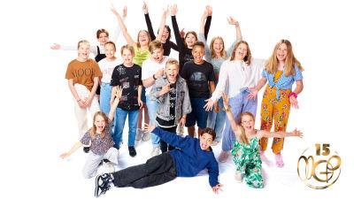 Gruppbild av artisterna i MGP 2021