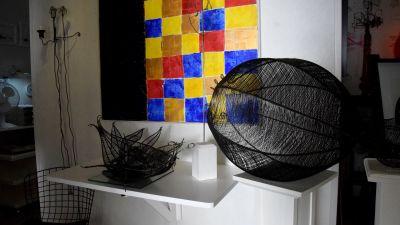 konstverk i galleri