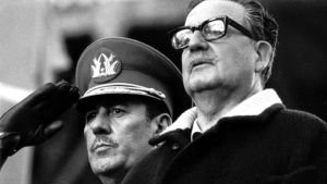 Augusto Pinochet ja Salvador Allende (1973).