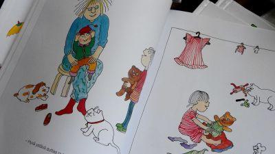 illustrationer av barn i bok
