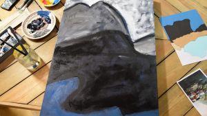 En ofärdig målning.