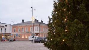 Julgran och Lovisa torg.